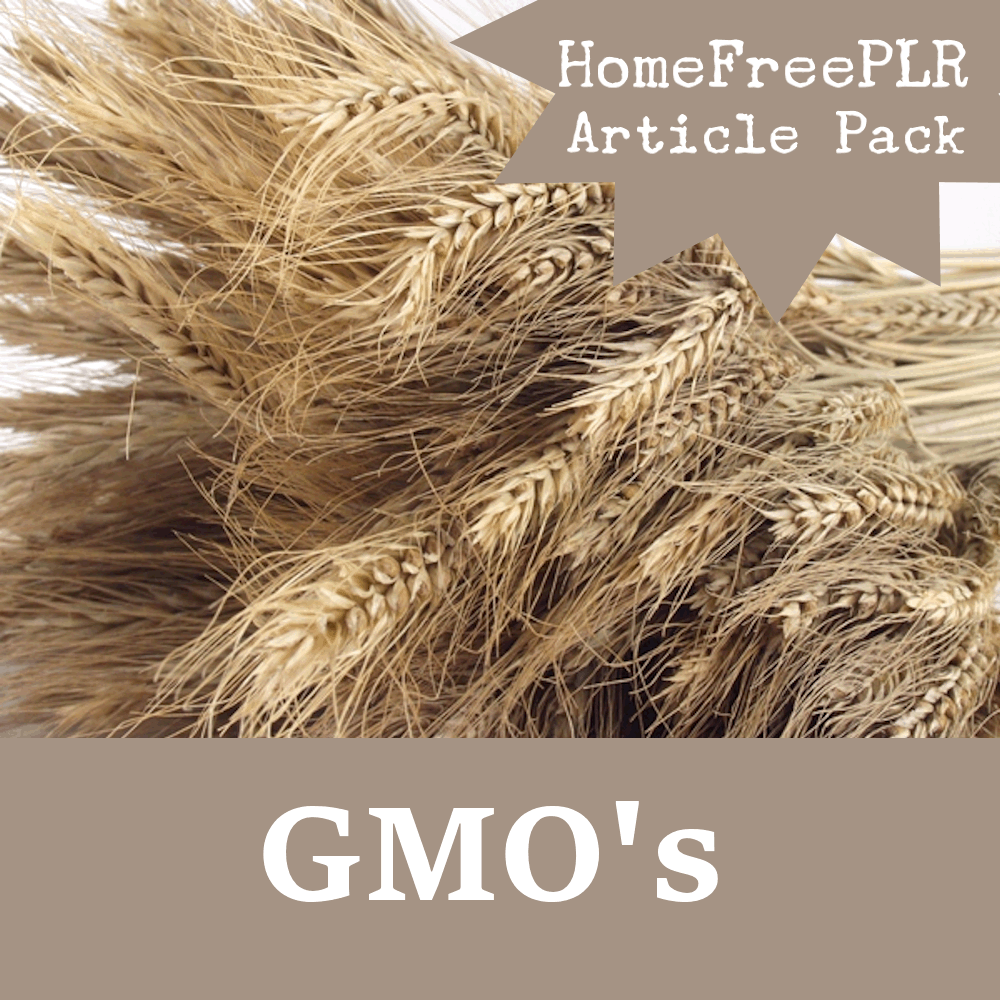 GMO PLR Article Pack
