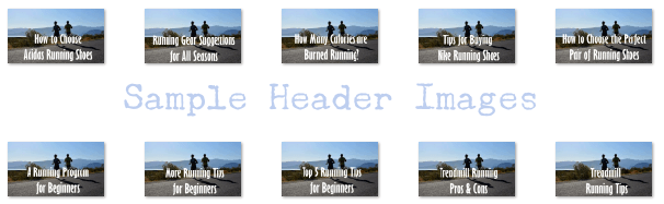 running plr sample header images