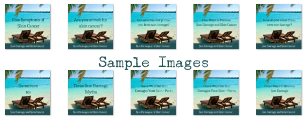 Sun Damage PLR Sample Images